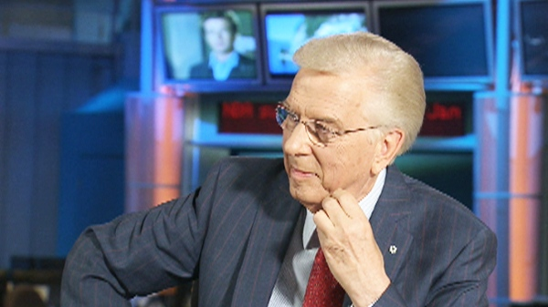 CTV's Chief Anchor and Senior Editor Lloyd Robertson is seen moments after he announced that he will be stepping down from the anchor's chair on Thursday, July 8, 2010.