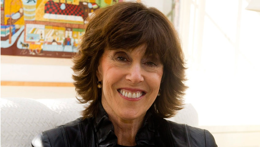 In this Nov. 3, 2010, photo, author and director Nora Ephron poses for a photo at her home in New York. (AP / Charles Sykes)