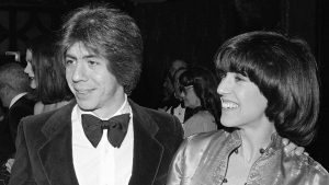 This Feb. 22, 1978 file photo shows screenwriter Nora Ephron, right, with her husband journalist and author Carl Bernstein in New York. (AP Photo/Richard Drew, file)