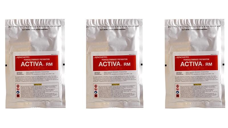 "Activa RM, one of Ajinomoto's transglutaminase, or ""meat glue"", preparations"