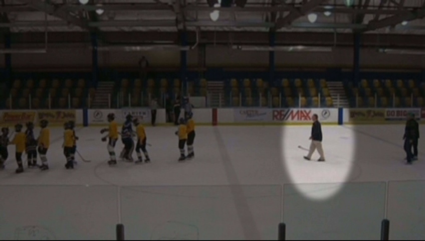 A B.C. hockey coach is under police investigation after he apparently tripped young players on an opposing team.
