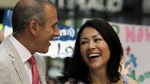 "In this July 22, 2011 file photo, NBC ""Today"" television program co-hosts Matt Lauer and Ann Curry appear during a segment of the show in New York. (AP Photo/Richard Drew, File)"