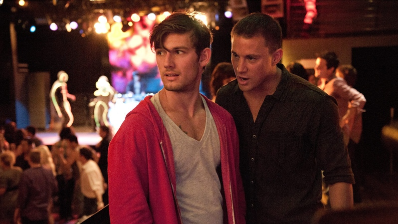 Alex Pettyfer, left, and Channing Tatum in Warner Bros. Pictures Canada's 'Magic Mike.'