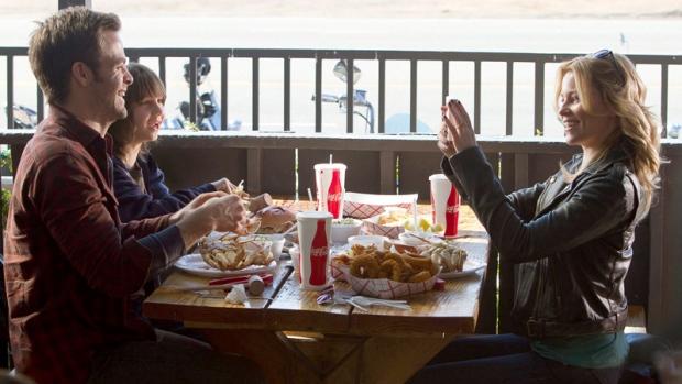 Chris Pine, Michael D'Addario and Elizabeth Banks