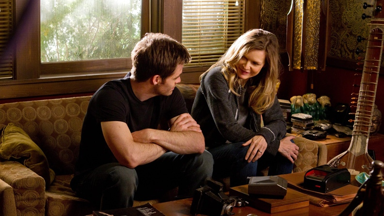 Chris Pine, left, and Michelle Pfeiffer in Walt Disney Studios and DreamWorks' 'People Like Us.'