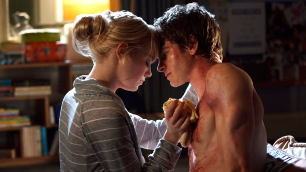 Emma Stone, left, and Andrew Garfield