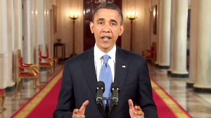 U.S. President Barack Obama addresses the decision to uphold Obamacare, saying despite the politics of today's decision, it was a victory for all.