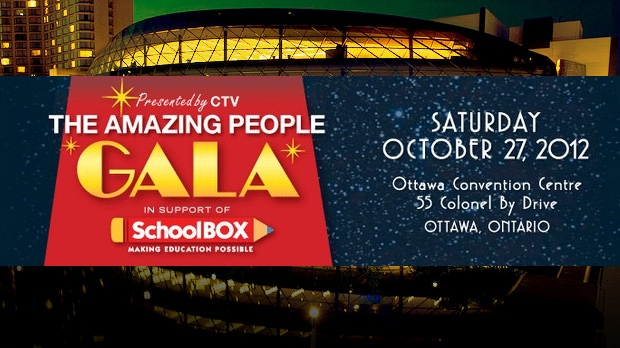 The Amazing People Gala gets underway at 7 p.m. at the Ottawa Convention Centre Saturday, Oct. 27, 2012.