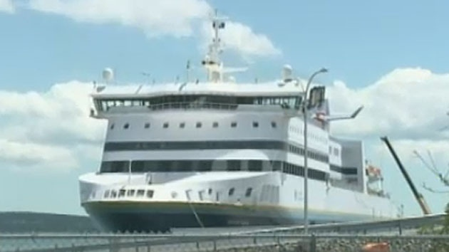 The Atlantic Vision, a ferry serving the St. John's area, is shown tied up in North Sydney in this file photo.
