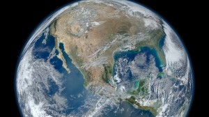 This Jan. 4, 2012, file photo provided by NASA shows the Earth. (AP / NASA)