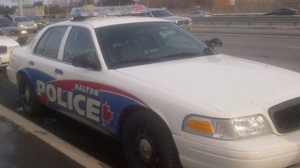 A Halton Regional Police cruiser is pictured. (CP24/David Ritchie)