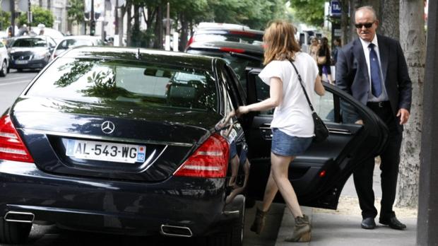 Photo of Emmanuelle Seigner Mercedes - car