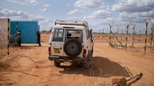 Aid worker vehicle, Kenya