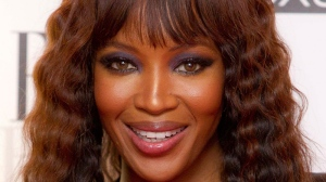 Naomi Campbell poses in the press room for the Elle Style Awards at the Savoy hotel in London on Feb. 13, 2012.  (AP /Joel Ryan)