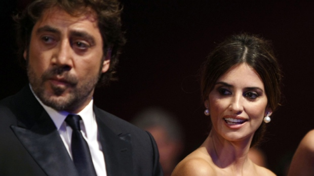 In this May 23, 2010 file photo, actor Javier Bardem and actress Penelope Cruz arrive during the awards ceremony at the 63rd international film festival, in Cannes, southern France, Sunday, May 23, 2010. (AP Photo/Mark Mainz, File)