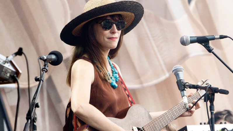 Feist performs on stage celebrating Canada Day on Parliament Hill in Ottawa, Sunday July 1, 2012. (Fred Chartrand / THE CANADIAN PRESS)