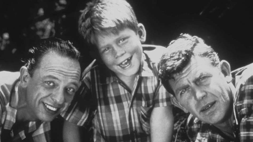 Don Knotts as Deputy Barney Fife, Ron Howard as Opie Taylor, and Andy Griffith as Sheriff Andy Taylor from 'The Andy Griffith Show' pose in this undated photo. (AP / Viacom)
