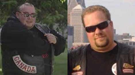 Hells Angels members Shane Edward Kirton, left, and Anthony James McLennan, right, were arrested on July 16