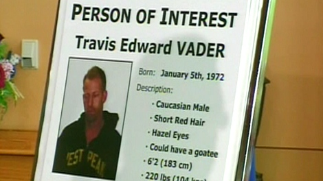 Travis Edward Vader has been identified as a person of interest by the RCMP in the McCann investigation on Friday, July 16, 2010.