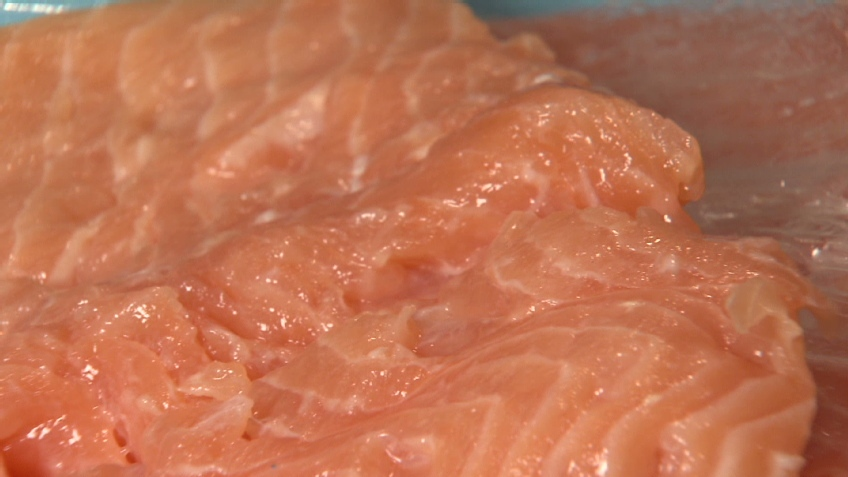 Mushy salmon is winding up on store shelves in British Columbia.