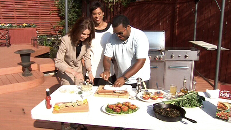 Chef Roger Mooking shows Canada AM how to throw an American Independence Day themed BBQ, Wednesday, July 4, 2012.