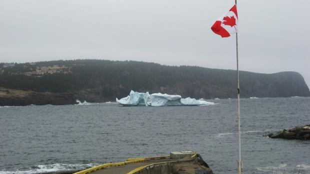 Iceberg in the water at Flat Rock, N.L.