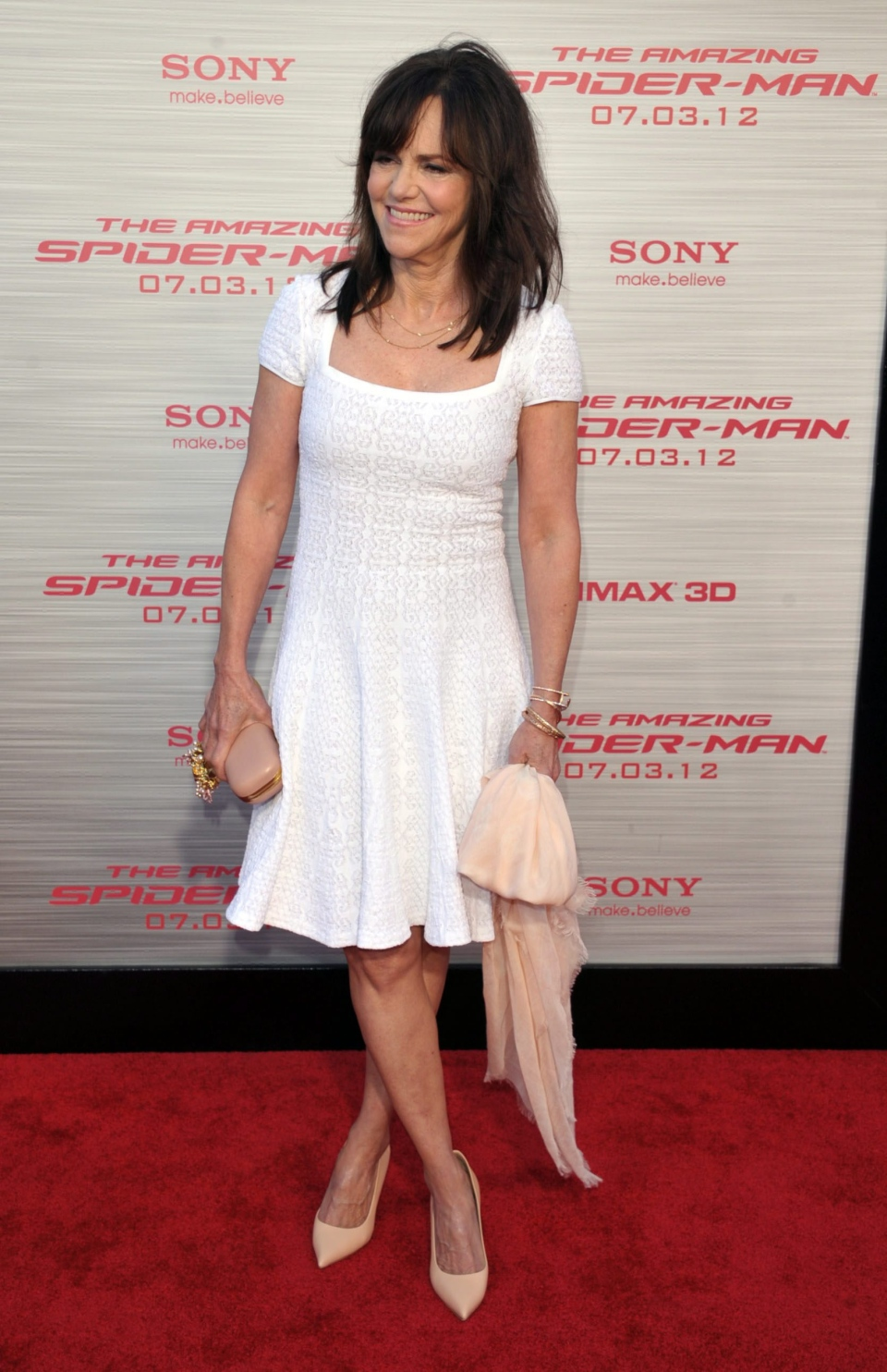 Sally Field attends the world premiere of 'The Amazing Spider-Man' at the Regency Village Theatre in Los Angeles on Thursday, June 28, 2012. (AP / John Shearer / Invision)
