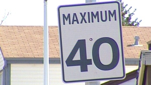 Generic 40 kilometre per hour speed limit