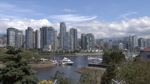 The skyline of Vancouver's Yaletown neighbourhood is shown on a sunny July 4, 2012. (CTV)