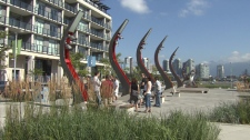 Urban planners and developers toured Vancouver's Olympic Village on Saturday, July 17, 2010. (CTV)
