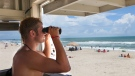 A U.S. lifeguard keeps watch in this file photo. (The Jacksonville Daily News / John Althouse)
