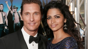 Actor Matthew McConaughey and his wife Camila Alves McConaughey on June 24, 2012. (Photo by Todd Williamson/Invision/AP, file)