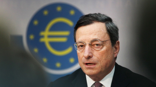 Mario Draghi, president of the European Central Bank, speaks during a press conference in Frankfurt, Germany, Thursday, July 5, 2012. (AP Photo/Michael Probst)