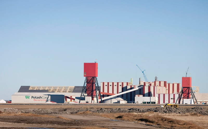The exterior of the Potash Corp. Rocanville potash plant near Rocanville, Sask., on Wednesday Nov. 3, 2010. (Troy Fleece / THE CANADIAN PRESS)