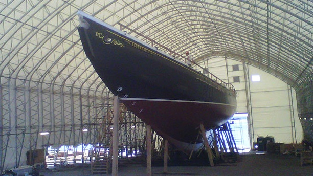 The Bluenose II is seen on July 6, 2012.