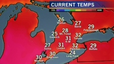 Hot weater in southwestern Ontario.