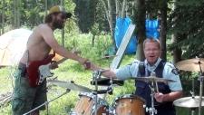 Mountie drummer