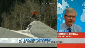 CTV News Channel: Skier remembered by Ont. street
