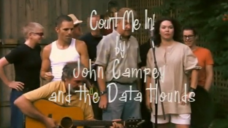 A screen-grab of John Campey and the Data Hounds� YouTube video for their song 'Count Me In' on Tuesday, July 20, 2010.