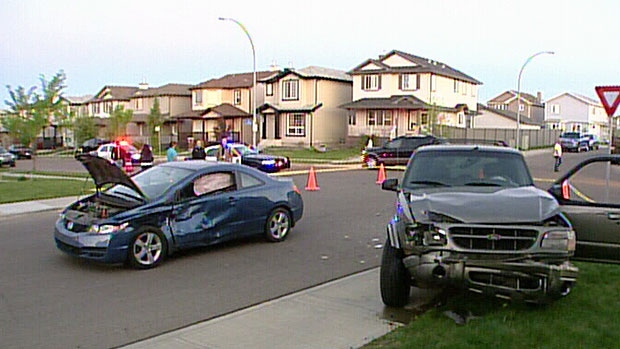 The scene of the accident in Brintnell on May 30.