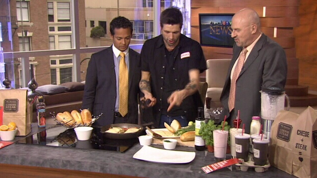 Canadian celebrity chef Anthony Sedlak appears on CTV News in Vancouver in 2011.