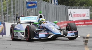 A car is seen at the Honda Indy in Toronto on Sunday, July 8, 2012. (Richard Wahab / CTV News)