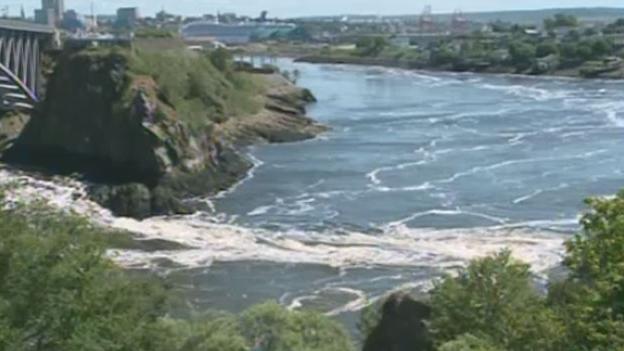 The Reversing Rapids, or Reversing Falls as it is better known, is seen on Jul. 9, 2012.