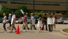 Candu Energy employees walk picket lines
