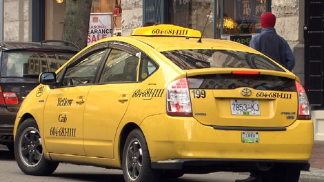 A Vancouver Yellow Cab is seen in this file image. (CTV)