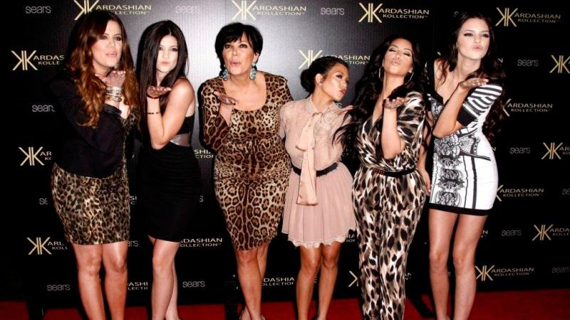 From left, Khloe Kardashian, Kylie Jenner, Kris Jenner, Kourtney Kardashian, Kim Kardashian and Kendall Jenner arrive at the Kardashian Kollection launch party in Los Angeles. (AP / Matt Sayles)