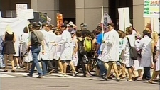 Scientists funeral procession