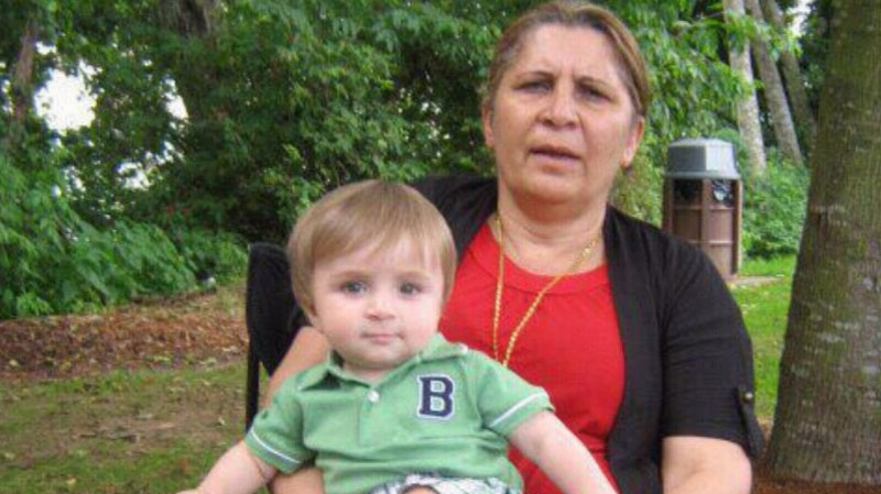 Warina Nissa and her grandson Ivan Yousif, seen here in an undated family photo, both drowned after falling into a Surrey swimming pool on July 8, 2012.