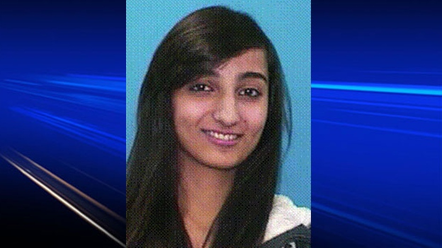 The family of 21-year-old Kashmala Fida say she has been found safe at a neighbour's home.