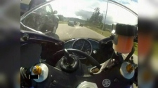 B.C. motorcyclist speeding